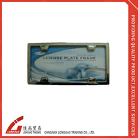 Custom logo usa plastic License Plate frame for Car Decoration,material with chrome ,plastic,zinc license plate for auto