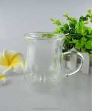 (factory) Creative cow Milk Shape Drinking Glass Tea Cup