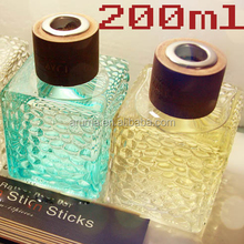 200ml colored water-cube clear aroma glass bottle home fragrance reed diffuser