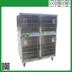 Customized medical vet clinic 201 or 304 stainless steel extra large dog crates