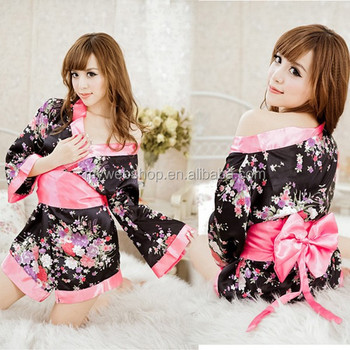 Sexy Japanese cherry blossom kimono game uniforms wholesale