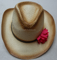 Cheap wholesale Summer high quality paper straw cowboy hat