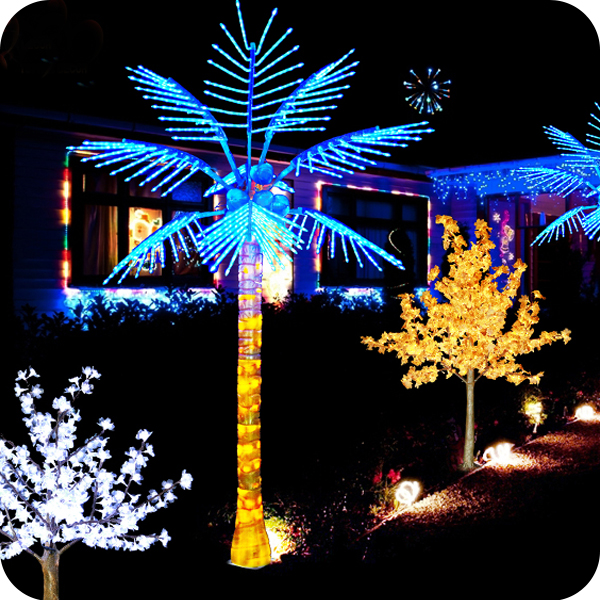 Artificial coconut palm tree fairy garden led lights