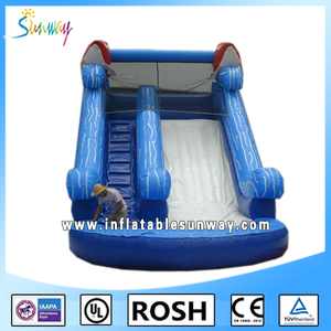 2016 Newest Design Commercial Outdoor Giant Cheap Water Dry Inflatable Slide For Kids Adult Party Sale