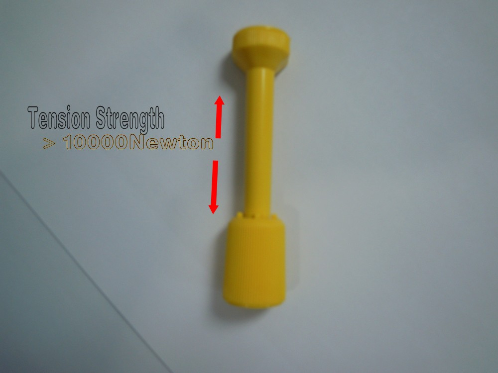 High Quality Container Security Lead Seal Yellow ABS Body Steel Head 10000N Silk-Screen 2014 Lower Price Hot Sell Container Seal