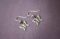 Personalized new style special zinc alloy antique silvre plated dangle butterfly earrings with crystal