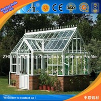Best selling products aluminium extrusion/profiles/frame greenhouse parts/factory/supplies in germany