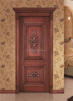 Traditional antique handmade wood door interior main carving solid wood door design