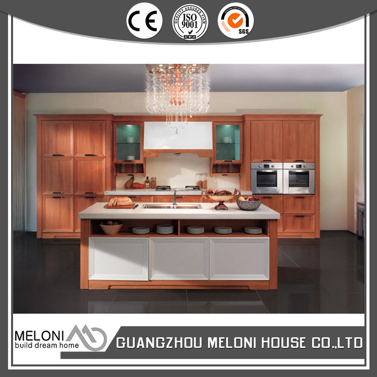 Transitional design with white quartz stone movable kitchen cabinet pvc