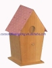 unfinished cheap lovely wooden bird house wholesale