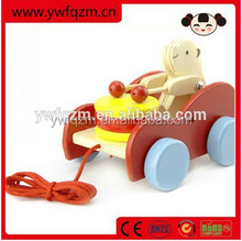 New Style Educational Wooden Pull Bear String Toys
