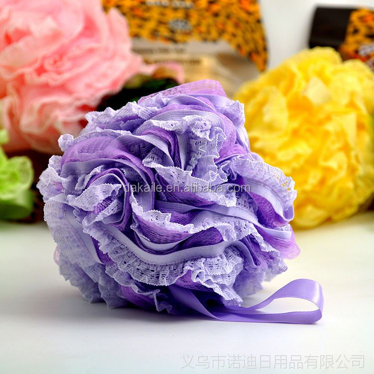 Colorful Soft Mesh Shower Bath Flower