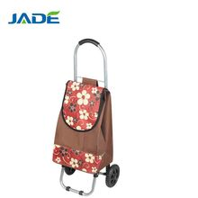 Folding trolley shopping bags with detachable wheels
