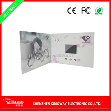 "12 YEARS FACTORY 3.5"" LCD screen video brochure customize for wedding invitation use"