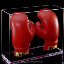 custom logo clear acrylic boxing gloves box organizer