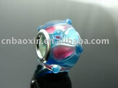 Charming glazed beads flower beads