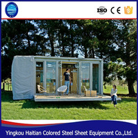 Folding 20ft prebuilt container foldable house manufacturers expandable prefabricated steel container home for sale in China