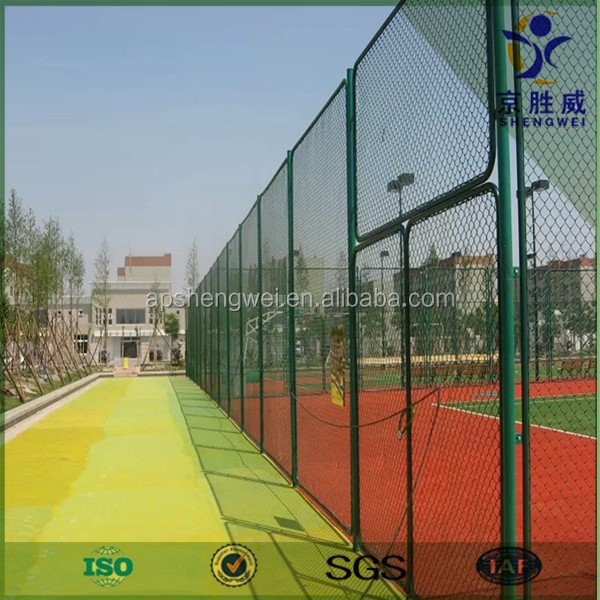 High quality PVC coated sports ground protection chain link fence
