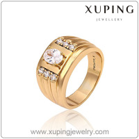 Fashion latest jewelry men's finger ring top quality zircon 18k gold ring design for men