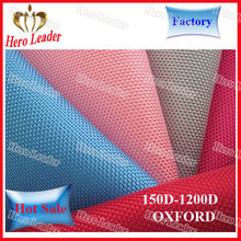 waterproof and breathable 210t polyester oxford fabric with pu coating
