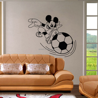 4149 Mouse Wall Decals Cartoon Mouse Stickers Football Wall Decals vinyl Wall Art for Home Decor