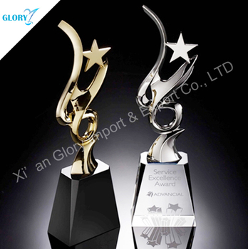 Most popular crystal art trophy made in china