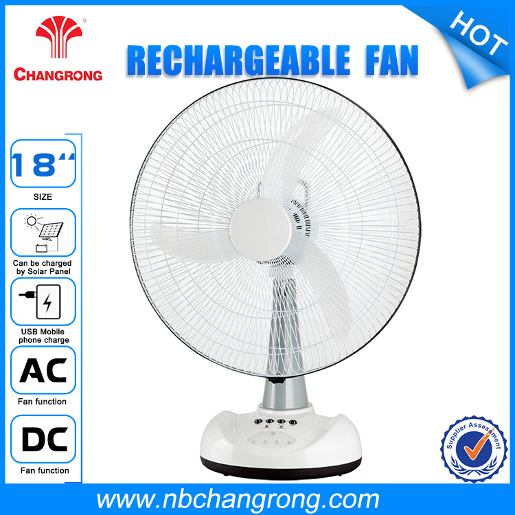 High Efficiency Battery Powered Usb Rechargeable Fan