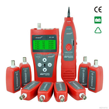 with 8 remote identifies lan cable tester for RJ45 RJ11 USB BNC NF-388