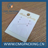 clear pvc plastic jewelry earring display cards with hanging hole at the top