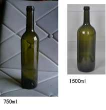 Big glass wine bottle 750ml,1500ml