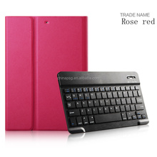 Ultra slim/Ultra-thin Folio five colors pu leather bluetooth keyboard tablet cover for Apple iPad Air