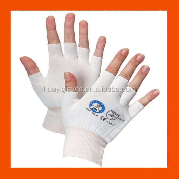 Half Finger Nylon Knit Gloves