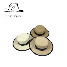 2018 cheap wholesale paper straw boater hat mens