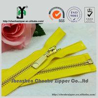 main product metal teeth separating box and pin zipper for garment
