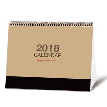 Customized cardboard 2018 table calendar