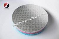 wholesale round silver corrugated cake drums/circle