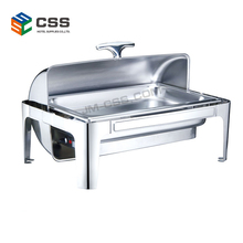 Electric Heating Chafing Dish Buffet Food Warmer YD-723DR-1-C Oblong Roll Top Chafing Dish with Electric Water Pans