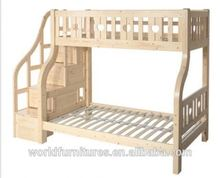 bunk bed with storage and ladder cabinet
