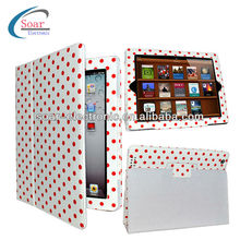 Polka Dots PU Leather Case for iPad mini,for iPad 2/3/4/5