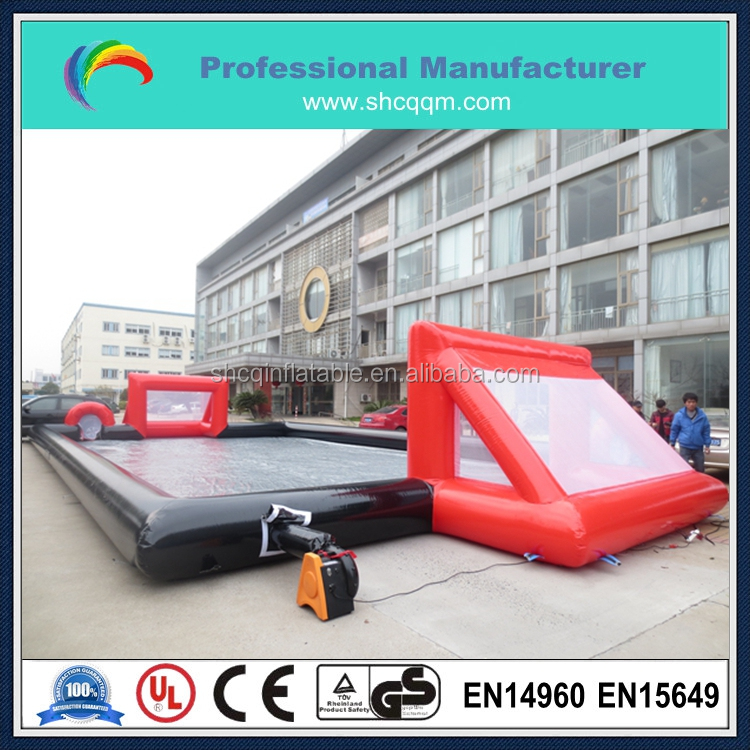 outdoor inflatable football pitch/inflatable water soccer field