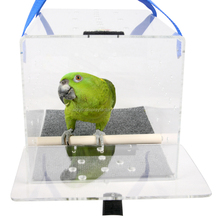 wholesale Crystal Clear acrylic bird cage/ acrylic pet cage/house for bird rest