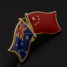 Austiral Falg Pin Double Flag Pin Lapel Classic Twins National Flag Pins