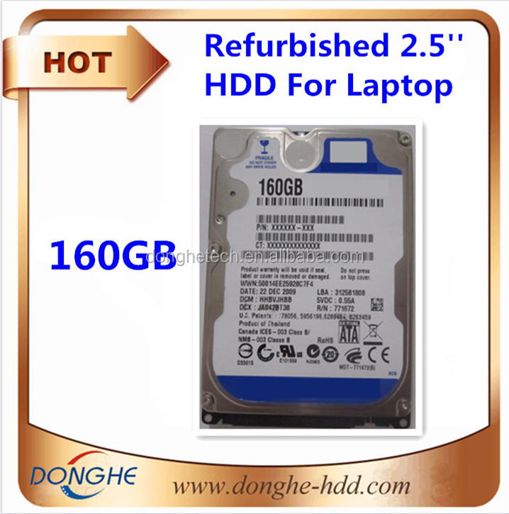 LARGE STOCK AVAILABLE!! Hard disk with prices!! Wholesale refurbished hdd 160gb sata laptop hard drive used internal hard disk