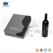 High grade red wine wine tin box whiskey packaging box gift box with accessory set