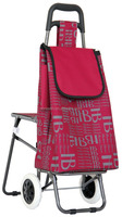 Big volume foldable shopping trolley bag with chair