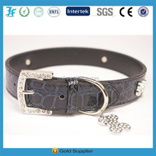 Personalized DIY Rhinestones PU pet collar for dogs and cats