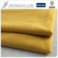 Jiufan Textile SAMPLE LINK Polyester Linen Fabric Mustard Single Jersey Fabric For Lady's Sweater