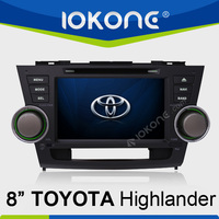 Special 8 inch Win6.0 car DVD for Toyota Highlander
