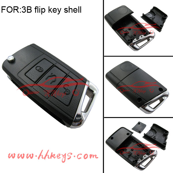 New arrival VW Golf 3 button modified remote key shell floding key fob cover
