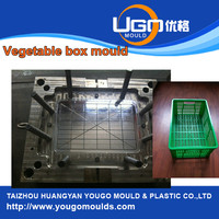 plastic injection mold for crate mould maker in taizhou China